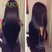 Queens Hair Products Peruvian Straight Hair 4Pcs Lot Natural Black Peruvian Virgin Hair Wholesale Peruvian Straight Virgin Hair
