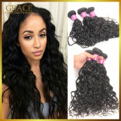 Peruvian Virgin Hair Water Wave 7A Peruvian Natural Wave 4Pcs/lot Grace Hair Products Peruvian Ocean Wave Virgin Hair