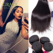 Brazilian Straight Hair Queen Weave Beauty Ltd Unprocessed Brazilian Virgin Hair 3PCS Lot Natural Black Brazilian Hair Weaves