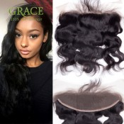 7A Grade Brazilian Lace Frontal Closure 13×4 Ear to Ear Lace Frontals Body Wave with Baby Hair Human Hair Closure