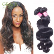 Hot Sale 7A Peruvian Body Wave Virgin Hair 1pcs/100g Unprocessed Natural Black Hair 100% Cheap Human Hair Peruvian Body Wave