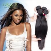 King Hair Brazilian Virgin Hair Straight 4pcs Lot 100% Unprocessed Brazilian Hair 7a Brazilian Straight Hair Weave Bundles