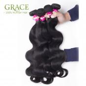 Peruvian Body Wave Peruvian Virgin Hair With Closure 5pcs Lot Grace Hair Bundles With Lace Closures