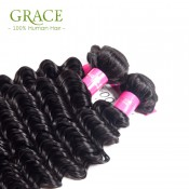 Brazilian Deep Wave Virgin Hair 4 Bundles Brazilian Deep Curly Virgin Hair Weave Unprocessed 7A Virgin Brazilian Curly Hair