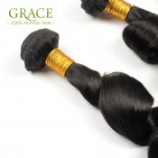 3Pcs Lot Luvin Hair Brazilian Loose Wave Virgin Hair Wet and Wavy Hair Weave Unprocessed Virgin Brazilian Loose Wave